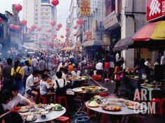 Crowds and Outdoor Restaurants, Kuala Lumpur, Wilayah Persekutuan, Malaysia Photographic Print by Richard I'Anson at eu.art.com