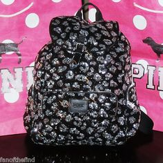 victoria's secret PINK Leopard backpack<3 Loveeee.