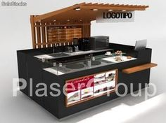 Stand Design, Booth Design, Small Kitchen Floor Plans, Mini Cafe, Food Kiosk, Container Shop, Small Cafe Design, Coffee Bar Home, Kiosk Design