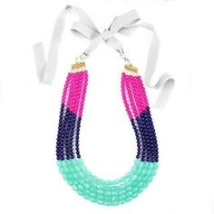 Fuschia, Navy, and Mint. Great for Spring into Summer