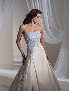 119319dddc Blue wedding dress | Light Blue and White Combination Wedding Dress by  Sophia Tolli 1 One