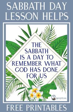 Yes! Helps for teaching about the Sabbath Day for those 4th Sunday lessons in Relief Society and Priesthood. This one is for Remembering what God has done for us #LDS