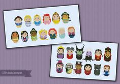 PRINCESSES PATTERN: Finally! A cross-stitch for the princess lovin' little girl in your life - or for you... that's cool too! We never really outgrow our love of a good fairy-tale do we?\r\n This pattern features some of our favourite princesses and it