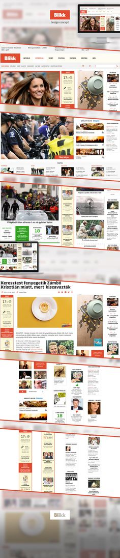 Redesign project of the hungarian tabloid site blikk. Projects, Log Projects, Blue Prints