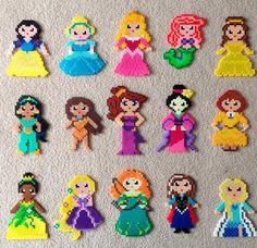 Princesas Disney en Hama Beads - Manualidades