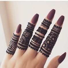 Beautiful stylish Finger Mehndi henna design for hands eid weddings 2019 Henna Tattoo Designs Simple, Finger Henna Designs, Beginner Henna Designs, Eid Mehndi Designs, Modern Mehndi Designs, Mehndi Design Pictures, Mehndi Simple, Mehndi Designs For Fingers, Henna Designs Easy
