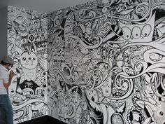 VISUAL ART « THE LOST AND FOUND- Wall doodle