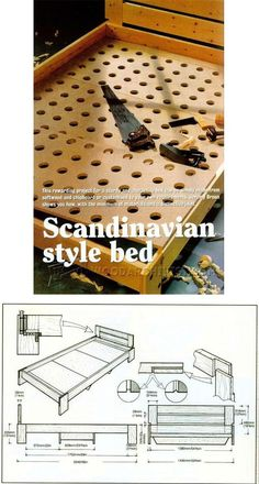 Scandinavian Style Bed Plans - Furniture Plans and Projects | WoodArchivist.com