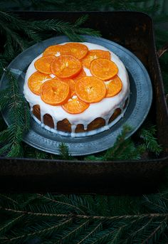 a clementine cake and citrus curd.