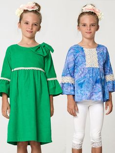 Anke Girls Dress & Top Sewing Pattern – My Childhood Treasures