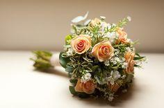 peach rose bouquets | Peach rose bouquet