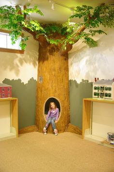 Then next best thing to climbing a tree would be...reading inside one!