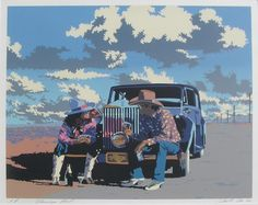 "Schenck, Bill ""Flamingo Road"" Serigraph AP H:24 x W:28"