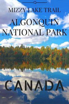 Mizzy lake trail, Algonquin National Park Canada