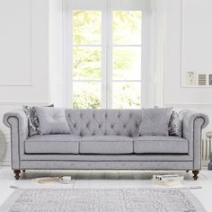 Bonsoni is proud to present this Malden Grey Fabric 3 Seater Sofa With Dark Ash Wood Legs Cushions Included). This is a beautiful, strong, and sturdy Sofa. This Malden Grey Fabric 3 Seater Sofa With Dark Ash Wood Legs Cushions Included) has finish a Fabric Armchairs, Fabric Sofa, Grey Fabric, Linen Fabric, Chesterfield Sofas, Chesterfield Living Room, Oak Furniture House, Velvet Furniture, Sofa Furniture