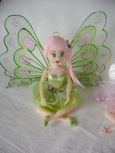Fadas, Fairy, Fairies, Porcelana Fria, Biscuit, Mobile quarto de Menina, Decoração Infantil, Cold Porcelain. Lembrancinhas. Festa de Criança.