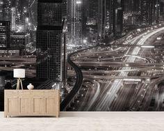Gotham wall mural room setting