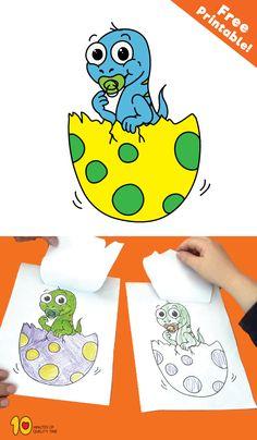 Hatching dinosaur egg! #preschool #kidsprintables #kidsactivities #kidscrafts#papercraft#dinosaurs