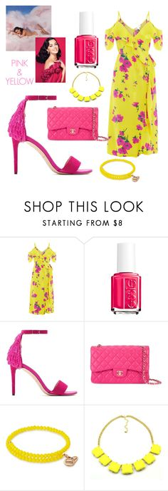 """""""Pink and Yellow❤"""" by ellakatykat ❤ liked on Polyvore featuring Essie, Chanel and Alex and Ani"""