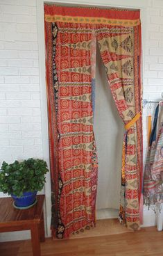 BOHEMIAN Door Curtain 35 X 82 Boho Privacy Screen