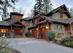 Rustic house design on pinterest duplex design rustic Luxury mountain house plans