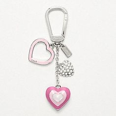 HEART MULTI MIX KEY RING - Add some charm to your Coach bag by adding this KeyFob...