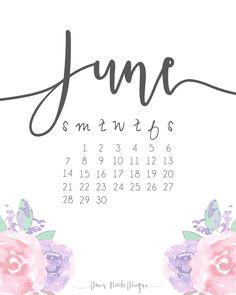 Floral June 2018 Desk and Wall Calendar June Calendar Printable, June 2019 Calendar, 2018 Calendar Template, Calendar Design Template, 2016 Calendar, Holiday Calendar, Print Calendar, Calendar Wallpaper, Floral