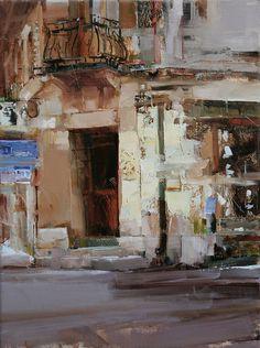 At the Corner. Oil 15.7 x 11.8 in. Tibor Nagy. 2011