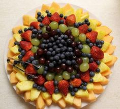 Why don't my fruit trays ever look this nice?  Need to work on my presentation!