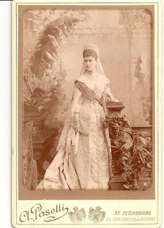Grand duchess Alexandra Georgievna in court dress