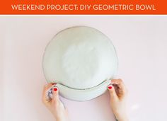 DIY geometric bowl.