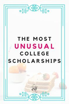The Most Unusual College Scholarships Supplement your financial aid with some of these great scholarships! Use your special skills to get some extra money for your college education. Click through to read the scholarships! Grants For College, Financial Aid For College, College Planning, Online College, Scholarships For College, College Hacks, Education College, College Students, School Hacks
