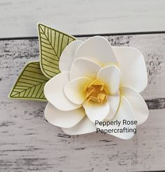 Pepperly Rose - Maria Kandylas Independent Stampin Up!® Demonstrator and Pepperly Rose Invitations: Stampin Up! 3d Paper Flowers, Diy Flowers, Flower Decorations, Fabric Flowers, Magnolia Book, Magnolia Flower, Fabric Ornaments, Flower Ornaments, Flower Stamp