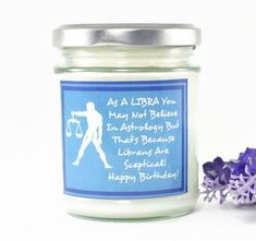 Libra Candle...  Zodiac Gift | Birthday Gift | Friend Gift | Astrology Gift | Personalised Gift | Horoscope Candle | Star Sign | October