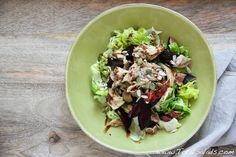 Recipe: Roast Chicken, Beetroot and Fig Salad - use chicken leftovers to make this deliciously balanced salad!