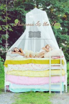The Princess and the Pea - would love to do this as a reading nook in the girls playroom#kids #playrooms #bedrooms