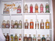 Shop display at York Castle Museum with original Terry's sweet jars