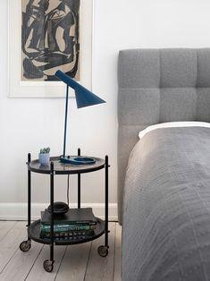 Arne Jacobsen blue table lamp.  Scandinavian 2016.