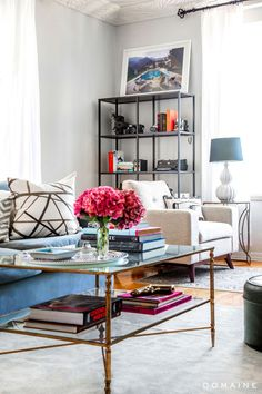Living room- Exclusive: Tour Margo & Me's Chic Hollywood Home via @domainehome