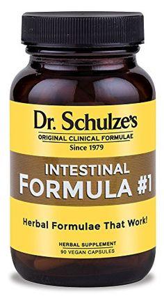 Dr. Schulze's Intestinal Formula #1 Colon Bowel Cleanse Laxative Capsules, 90 Count