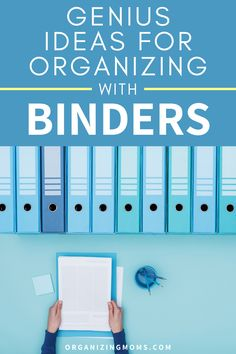 How to organize your paperwork with binders. A great way to have everything easily accessible. Set up your own binder organization system today. #Organizing #Decluttering #organizingmoms Organizing Paperwork, Binder Organization, Organizing Your Home, Organized Mom, Getting Organized, Home Filing System, Paper Clutter, Organize Your Life, Time Management Tips