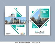 A4 Brochure Cover Design Fancy Title Sheet Model City View Icon Creative Vector Front Page Art Banner Form Texture Flyer Fiber Font