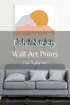Add the boho aesthetic to your nursery space with wall art prints from LB Ink Design. We have a lot of affordable art options, that are also an easy DIY, so you can redecorate on a budget. Our boho prints incorporate abstract and minimalist elements, along with blush pinks and burnt oranges, perfect for any gender baby. Add our wall art printables above your crib for a perfect eye catching piece. Click this pin to shop our Etsy store now. #abovecribart #affordableart #bohonursery #walldecor