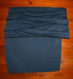 Small Things: Folded Miniskirt Tutorial - I'd make it longer :)