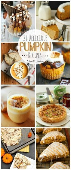 Delicious collection of pumpkin recipes for fall! // http://cleanandscentsible.com