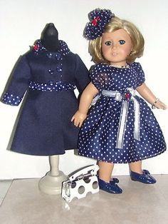 "Handmade Coat and Dress Set For American Girl 18"" Dolls"