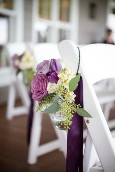 Purple Rose Aisle Markers