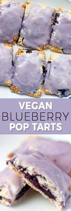 Vegan Blueberry Poptarts - Sweet Like Cocoa