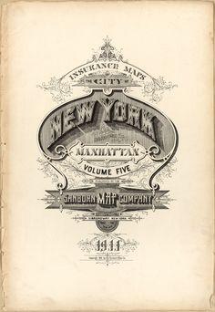 Historic type, Sanborn Fire Insurance Map, New York.