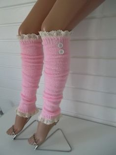 Cable knit blue leg warmers with lace and buttons chunky leg warmers boot socks over the knee socks birthday gifts christmas gifts